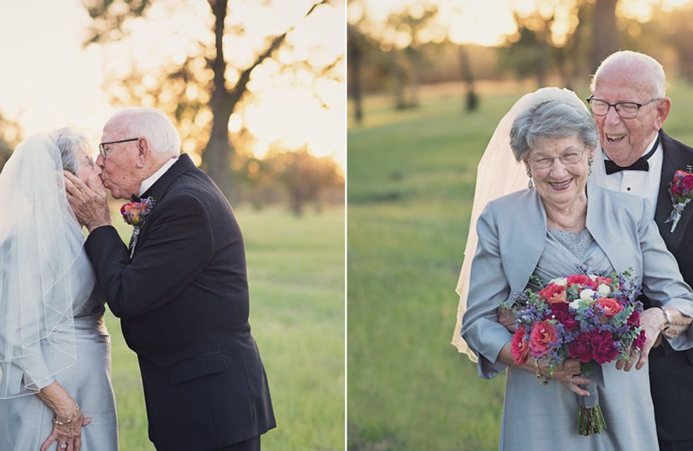 Besser spät als nie: Zum 70. Hochzeitstag bekommen sie endlich ihr Hochzeitsshooting