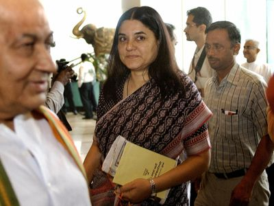 Maneka Gandhi, ministre indienne des droits des Femmes