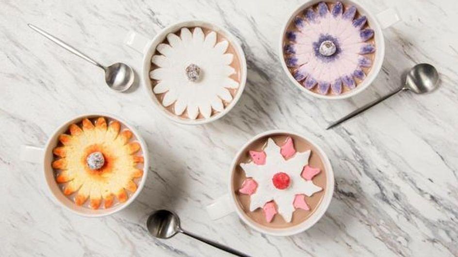 ¡Nueva tendencia en Instagram! Flores de nube para decorar tu chocolate caliente