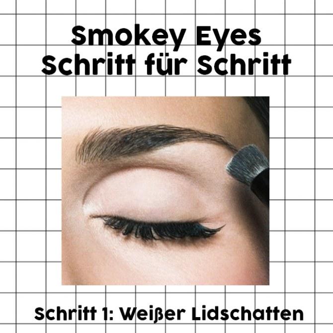 Smokey Eyes Schritt für Schritt: Weißer Lidschatten