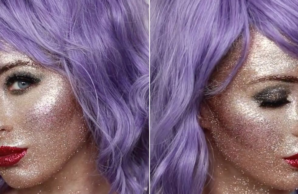 This Make-up Artist's Genius Glitter Face Will Make You Shine Brighter this Party Season