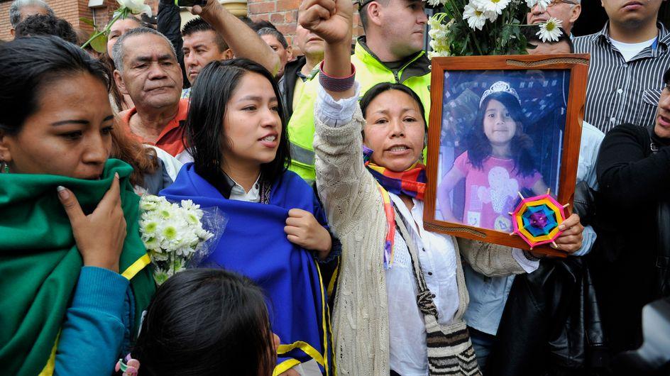 La Colombie se soulève après le viol et le meurtre d'une fillette de 7 ans (Photos)