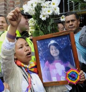Des manifestants réclament justice pour Yuliana à Bogota