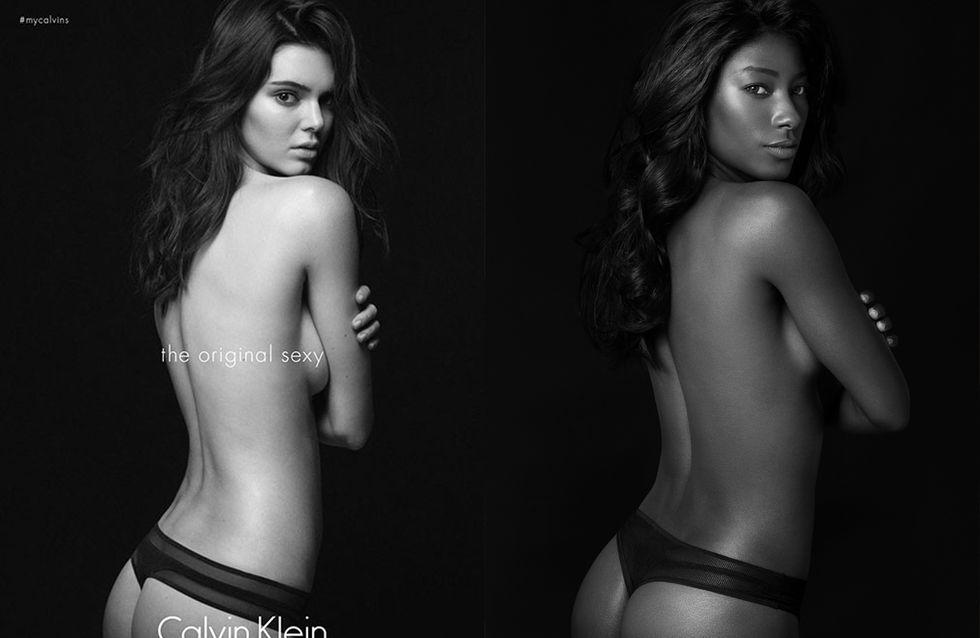 Elle recrée les célèbres publicités de Kendall et Kate Moss pour souligner le manque de diversité dans la mode