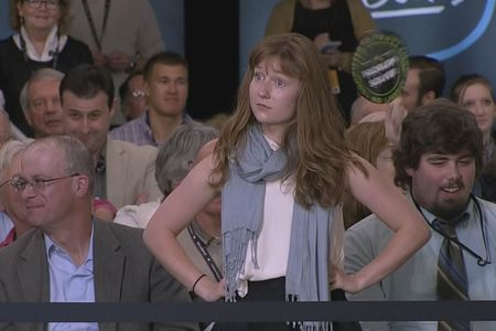Lauren Batchelder lors de sa confrontation avec Donald Trump