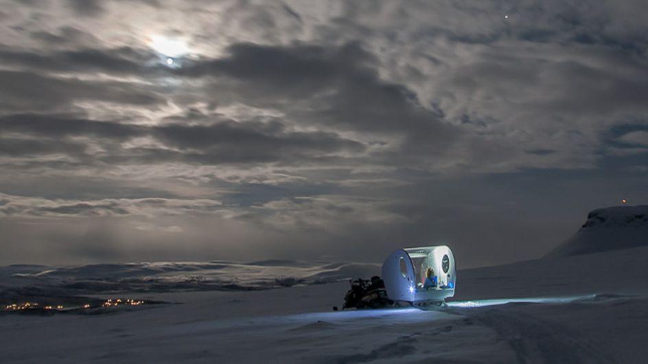 ¿Te gustaría dormir bajo la aurora boreal?