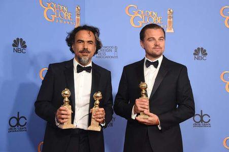 Alejandro González Iñárritu y Leonardo DiCaprio (El renacido)