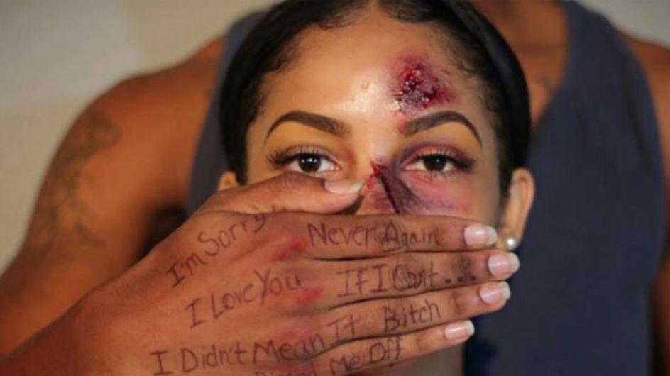 Esta maquilladora ha creado un impactante proyecto fotográfico contra la violencia de género