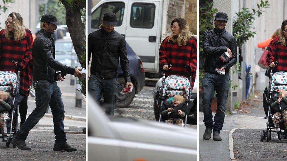 Laura Chiatti e Marco Bocci: passeggiata romantica con il piccolo Enea. Le foto!