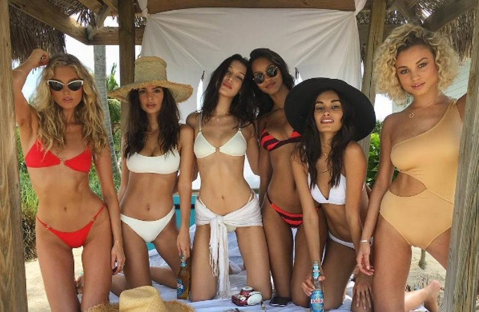 Voilà à quoi ressemblent les mannequins Victoria's Secret en maillot, quand elles ne sont pas sur le podium (Photos)