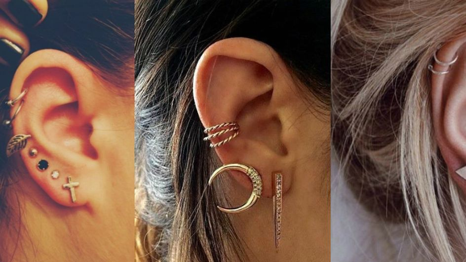 Bijoux ao pé do ouvido: combinações de brincos e piercings