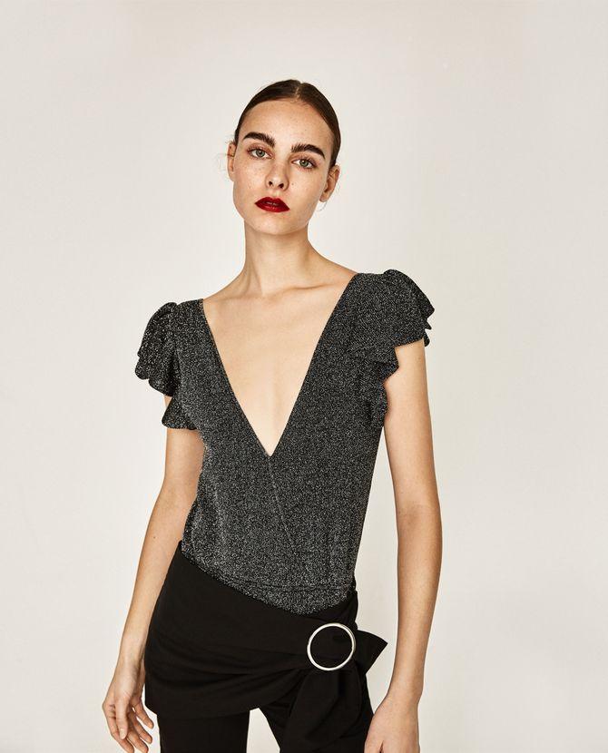 Le body pailleté Zara, 29.95 euros