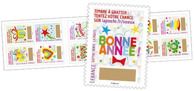 Les timbres à gratter La Poste - 8,40 € le carnet
