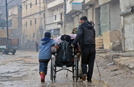 Civils fuyant Alep