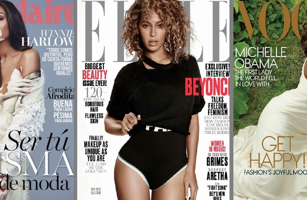 Les femmes de couleur ont été plus présentes que jamais sur les Unes de magazines cette année, mais le combat est loin d'être gagné (Photos)