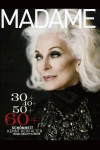 Carmen d'ell Orefice, en couverture du magazine Madame (2015)