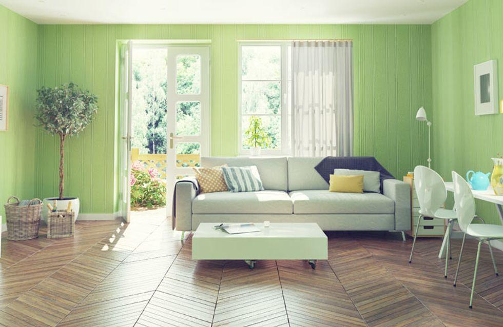 Cómo decorar con Greenery, el color tendencia de 2017