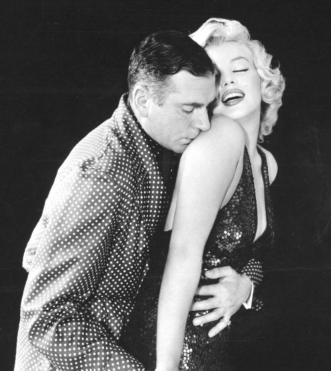 Marilyn Monroe e Laurence Olivier sul set de Il principe e la ballerina