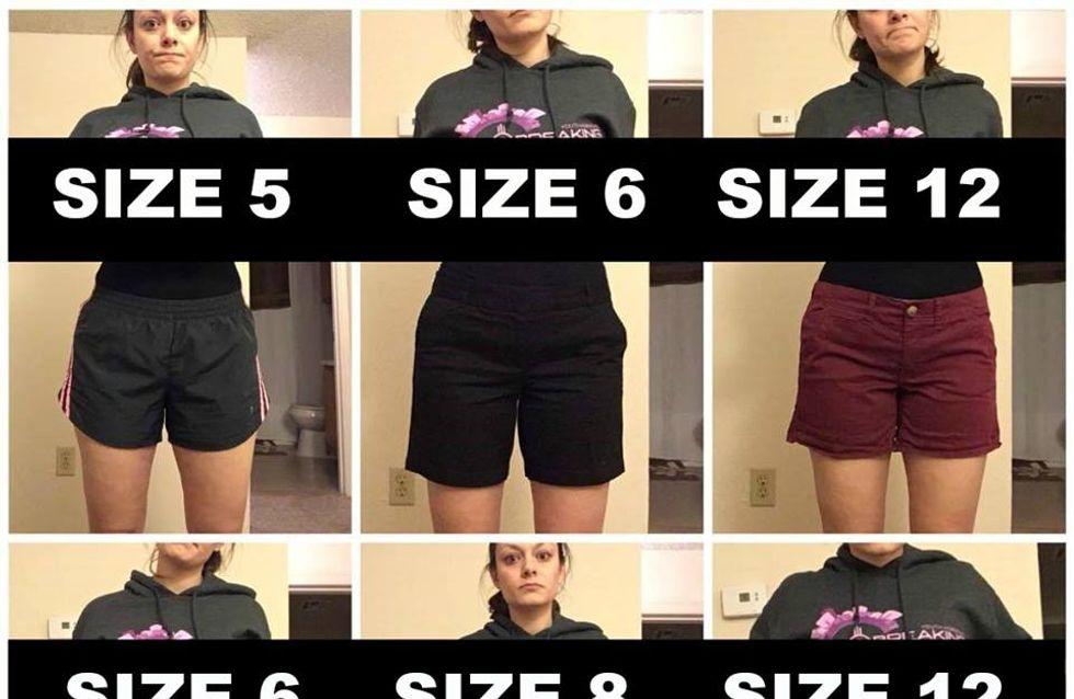 """Vous trouvez """"normal"""" que, selon les marques, cette jeune femme puisse porter du 34 comme du 42 ? (Photos)"""