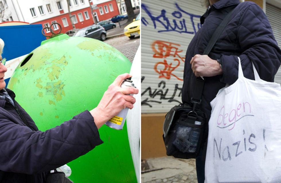 Aktivismus in Zeiten der Angst: Diese 70-jährige Berlinerin geht auf eigene Faust gegen Nazis vor