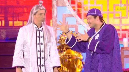 Gad Elmaleh et Kev Adams sur scène