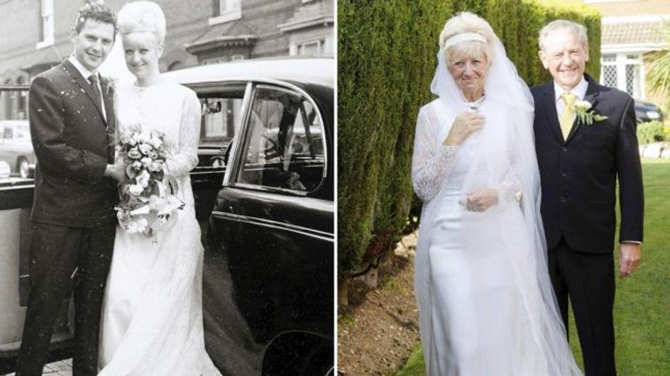 Una pareja revive su boda para celebrar sus 50 años de matrimonio
