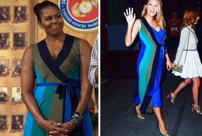 Blake Lively et Michelle Obama portent la même robe