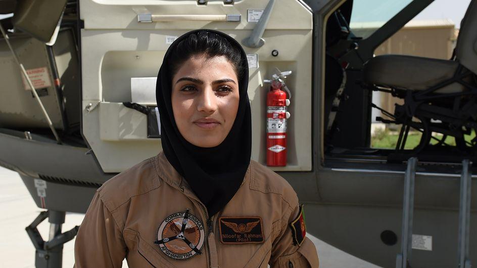 "Niloofar Rahmani, la ""Top Gun afghane"", menacée dans son pays ? (Photos)"