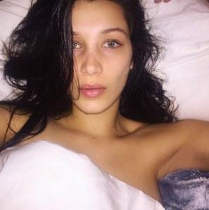 Bella Hadid sin maquillaje
