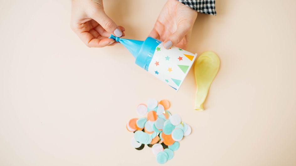 DIY : un lanceur de confettis pour célébrer la nouvelle année