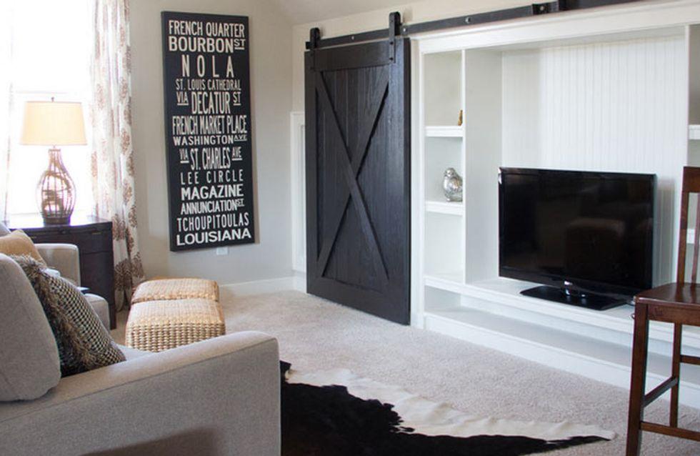 Puertas de granero, una pincelada rústica en la decoración de tu hogar