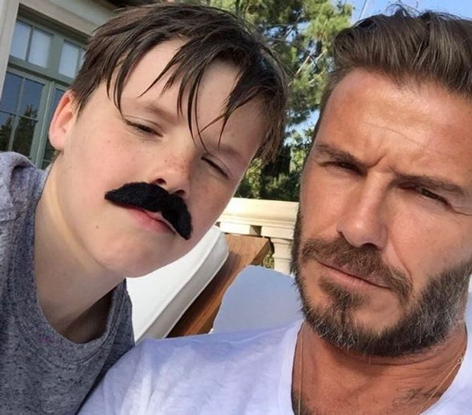 Cruz et David Beckham