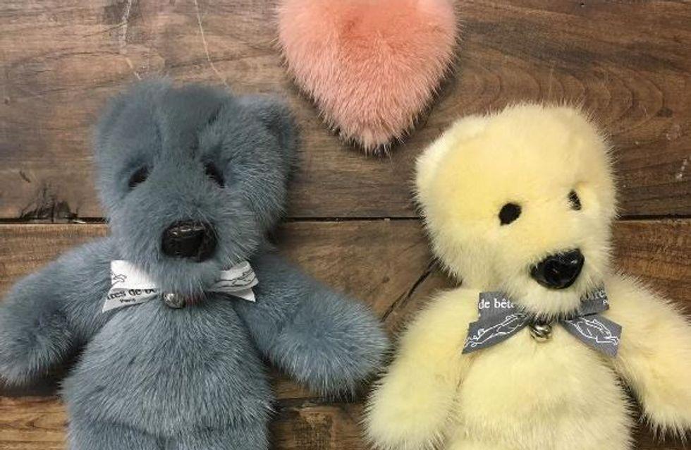 Une marque française fait scandale en proposant des peluches en vraie fourrure (Photos)