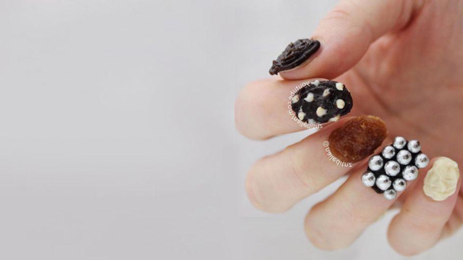 Quoi ? Un nail art au chocolat que l'on peut VRAIMENT manger ? (vidéo)