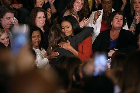 Michelle Obama lors de son discours le 6 janvier 2017