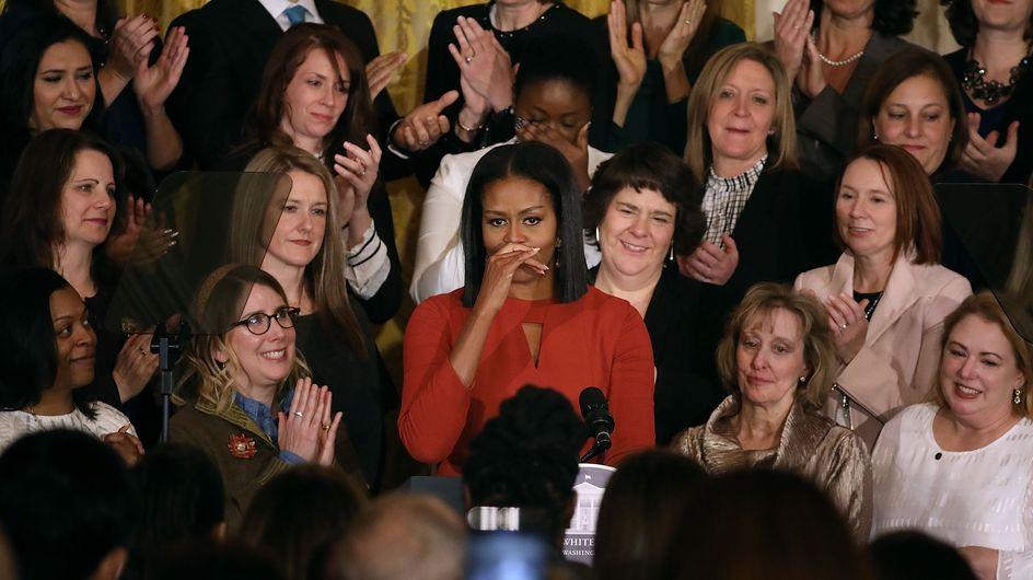 Michelle Obama, très émue, prononce son dernier discours en tant que First Lady (Vidéo)