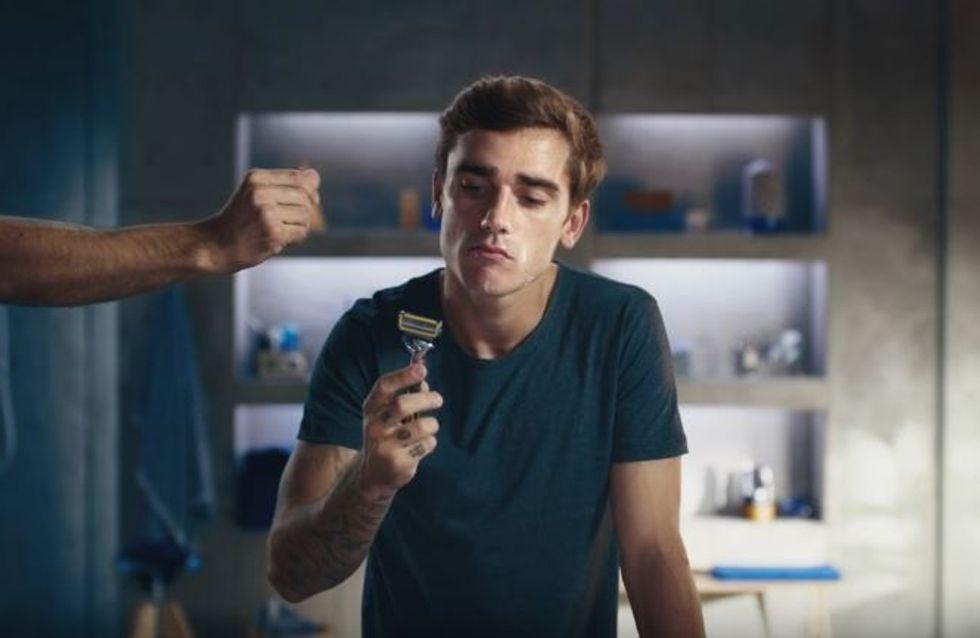 Antoine Griezmann s'amuse dans deux nouvelles pub Gillette irrésistibles (Vidéos)