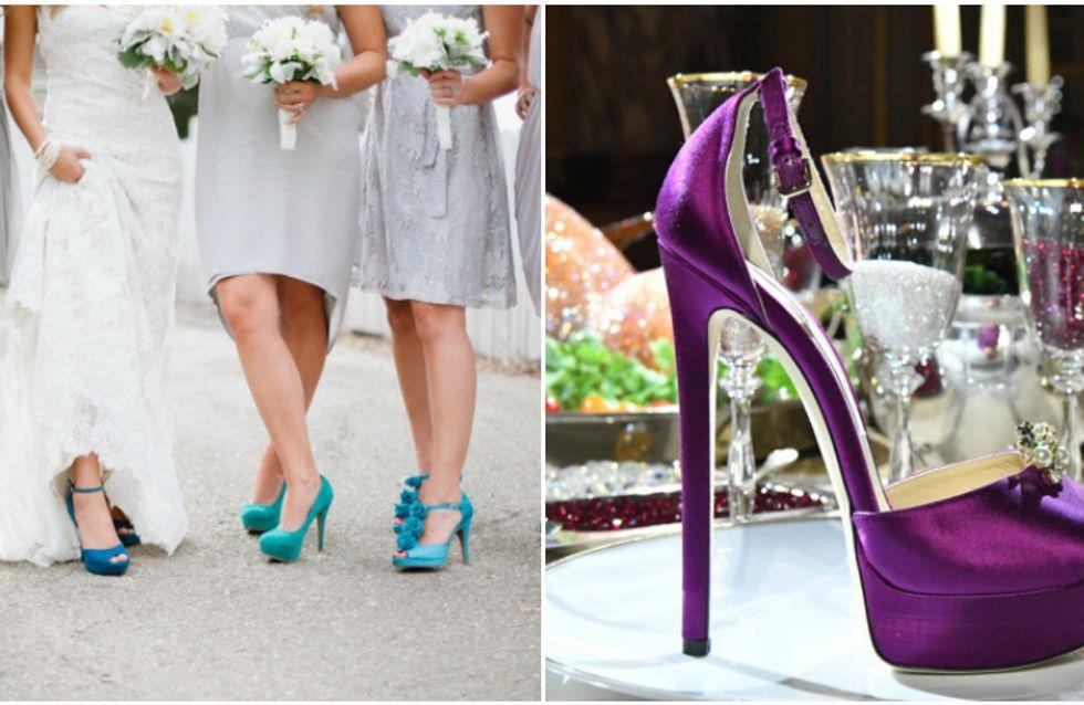 Sapatos coloridos para madrinhas de casamento