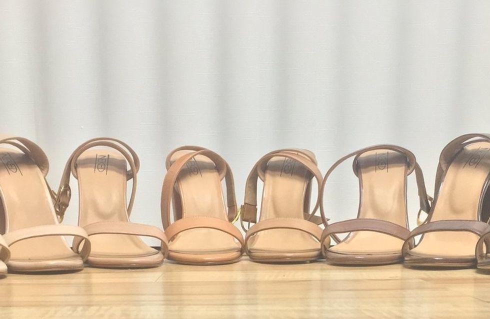 Cette marque imagine des sandales à talon nude pour toutes les couleurs de peau (Photos)