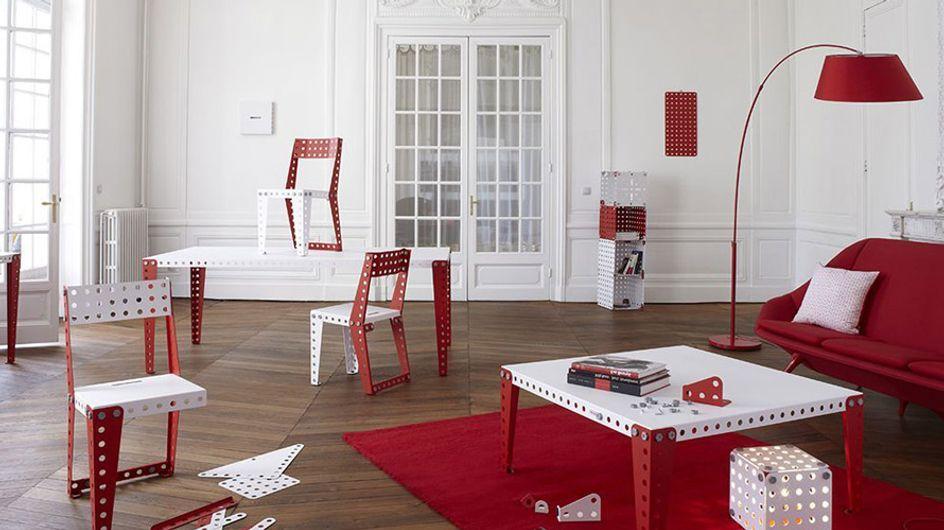 Muebles de Meccano, las famosas piezas de construcción llegan al mundo de la decoración