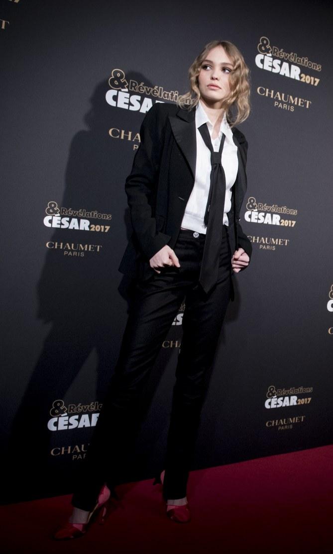 Lily-Rose Depp au dîner des Révélations des César 2017