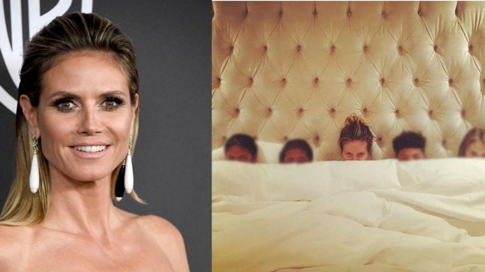 Eine kleine Sensation: Zum ersten mal zeigt Heidi Klum die Gesichter ihrer vier Kids!