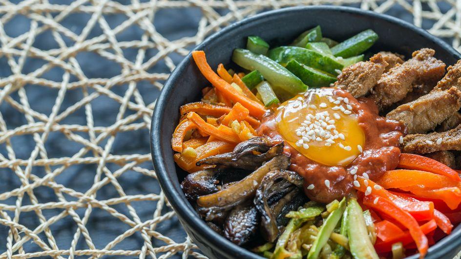 Le vrai bibimbap maison, plat coréen complet et sain