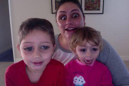 Kirsten Bosly avec ses enfants