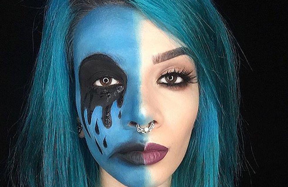 Grâce au maquillage, cette blogueuse beauté sensibilise aux maladies mentales