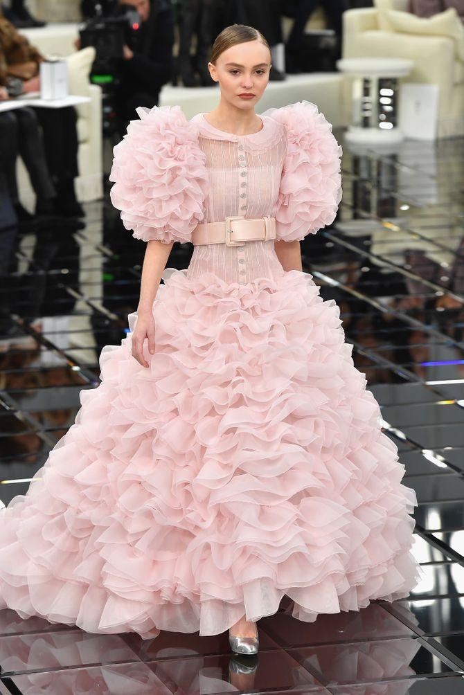 Lily-Rose Depp au défilé Chanel haute couture PE 2017