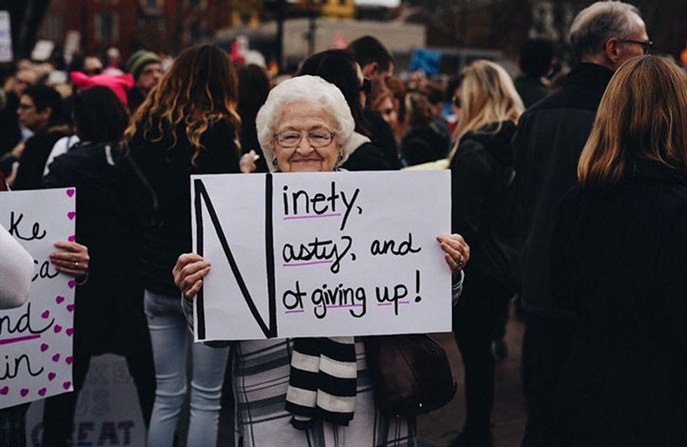 15 abuelas revolucionarias que volvieron a protestar por sus derechos en la marcha contra Trump
