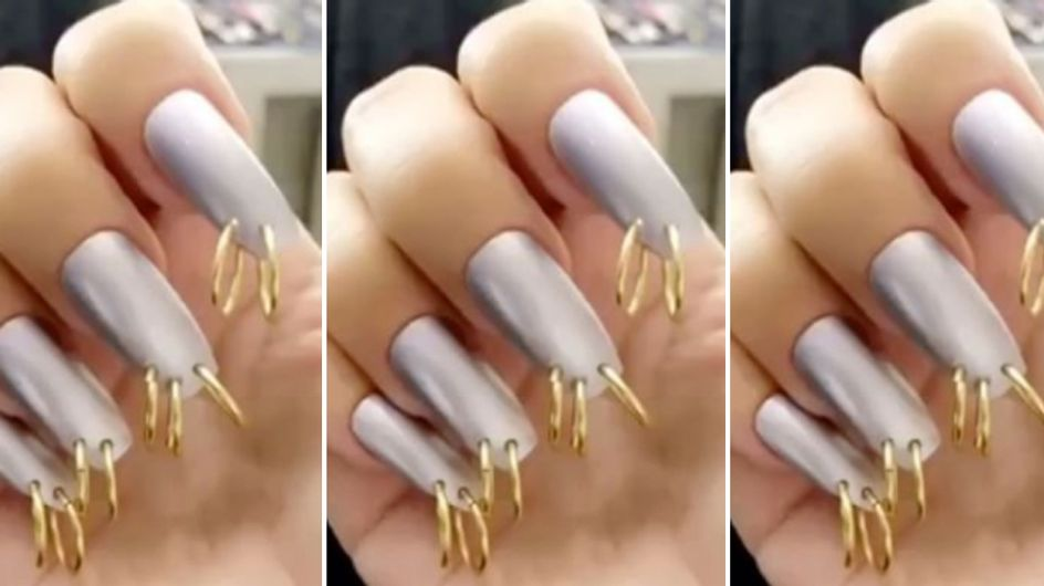 Kim Kardashian Is Rocking Pierced Nails And We Don't Know How To Feel