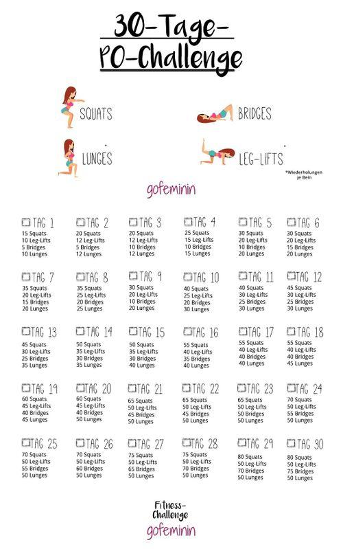 30 Tage Po Challenge In Einem Monat Zu Einem Knackigeren Po