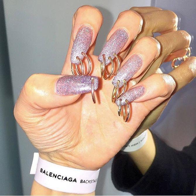 Pierced nails